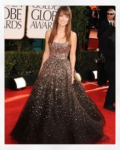A glitterati moment. X A #tbt of the stunning @oliviawilde wearing #marchesa to the 2011 Golden Globes.