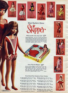 1964 — Meet Barbie's sister Skipper (from the Sear's Christmas Catalog)