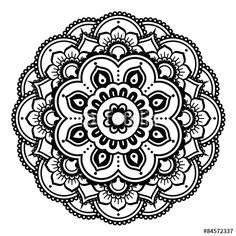 Vector:  Indian Henna tattoo pattern or background - Mehndi design