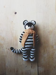 Wanted a knit white tiger to accompany my Sharon Montrose baby tiger print, and…