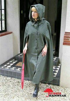 Mackintosh Raincoat, Clear Raincoat, Capes & Ponchos, Rain Cape, Rubber Raincoats, Hooded Cloak, Rain Gear, Fashion Project, Raincoats For Women