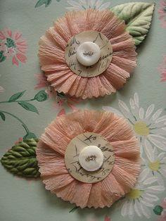 Delicate Flower-Vintage Embellishment