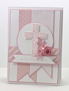 Hey Everyone Can you believe it? I'm posting a card that's not for a challenge! It's been ages since I've done this. The reason for my card is that my niece celebrated her Holy Communion today and...