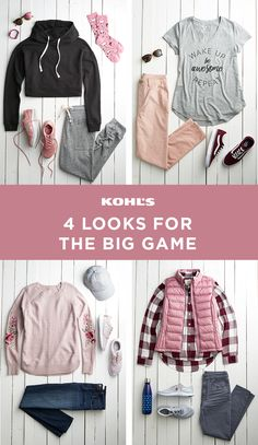 The big game is coming! If your team didn't make it or you don't exactly know who's playing, you can still rock a cute outfit to the party. Our tip: keep it casual—but don't be afraid to add pops of millennial pink. (We're pretty sure you won't be stealing any team's colors.) Shop game-day outfits at Kohl's. #ootd #football #gameday