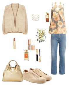 """""""Looking for the summer ..."""" by valeria-coroianu on Polyvore featuring Vince, Acne Studios, Raey, Common Projects, Lanvin, Mounser, Tory Burch, DaVonna, Axiology and Stila"""