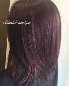Red violet with copper highlights