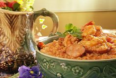 Jambalaya from Paula Deen.  This is what I'm making for supper tonight.  Hope it's not too spicy for the kids!!