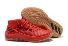 the latest cfb63 c8d02 adidas Dame 4 Red Gum Scarlet High Resolution Red-Black For Sale Adidas  Basketball Shoes
