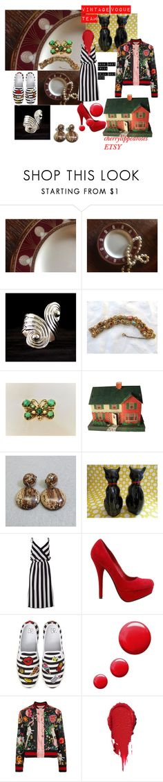 """""""DECO, MEET FRIDA"""" by cherrylippedroses ❤ liked on Polyvore featuring Gorham, Dollhouse, Marc Jacobs, BP., Topshop and Gucci"""