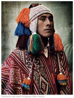 Traditional Peruvian male attire, photo by Mario Testino