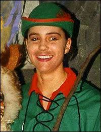 Kate played English folk hero Dick Whittington in a school play....I thought she looked like Robin Hood:s