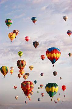 International balloon festival, Albuquerque