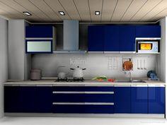 Contemporary Mdf Cabinet Doors Blue