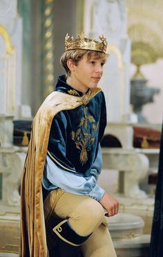 The Chronicles of Narnia, the Lion, the Witch, & the Wardrobe: High King Peter The Magnificent. I love his clothing. Goes with his features. :-)