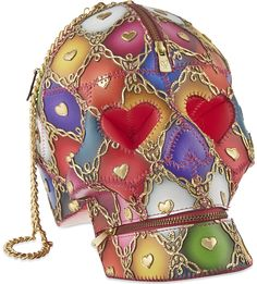 MANISH ARORA - Harlequin printed skull bag | Selfridges.com