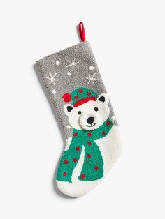Polar Bear Christmas Decorations, Sewn Christmas Ornaments, Christmas Themes, Handmade Christmas, Christmas Stockings, Christmas Crafts, Christmas Fair Ideas, Modern Art Movements, Boucle Yarn