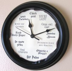 Harry Potter Clock by LetterThings on Etsy https://www.etsy.com/listing/218346728/harry-potter-clockI WANT
