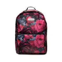Cozmic Death Backpack [B] ❤ liked on Polyvore featuring bags, backpacks, pocket bag, zipper bag, zip bag, pocket backpack and knapsack bag