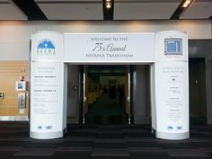 Entrance with Custom Graphics for #NHMRA Annual Conference & Tradeshow is all set!