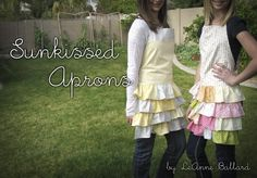 FREE Tutorial/Pattern of this Ruffly Full Apron for sizes TEEN to ADULT.  No Pdfs to download, simply follow directions.  Lots of photos to help along the way and be sure to look around the site for other great aprons and sewing patterns!!!
