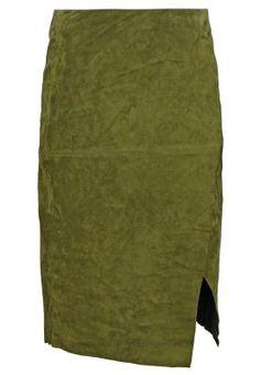 Falda de cuero - green