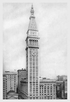 Metropolitan Life Insurance Tower 1911 28x42 Giclee on Canvas