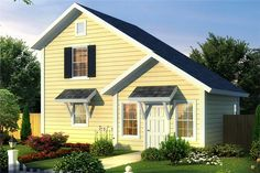This lovely Cottage style home with Craftsman influences (House Plan has 664 square feet of living space. The story floor plan includes 1 bedrooms. Cottage Style House Plans, Cottage House Plans, Country House Plans, Small House Plans, Cottage Homes, Backyard Cottage, Saltbox Houses, House Ideas, Monster House Plans