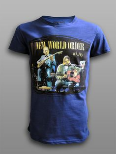 New World Order Combed Cotton tshirt Silk Screen print  #πλAy #playshirts #tshirt #nirvana #zambetas #rembetiko #buzuki #bouzouki #mashup #new #world #order #rock #greek #music #cobain #unplugged #jamming