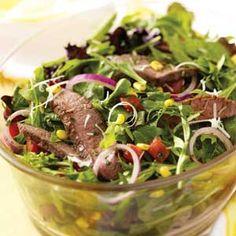 Veggie Steak Salad Recipe