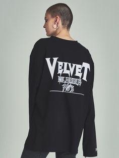 W CONCEPT : W컨셉 - [13MONTH:써틴먼쓰] VG longsleeved t-shirts black