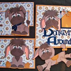 Donkeying around Paper piecing SVG cut file and printable pdf from www.digitaldelightsbyloubyloo.com