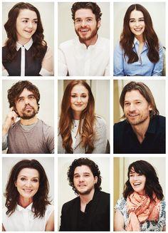 Arya Stark, Robb Stark, Daenerys Targaryen-Drogo, Tryrion Lannister, Sansa Stark-Lannister, Jamie Lannister, Catelyn Tully-Stark, Jon Snow, Cersei Lannister-Baratheon