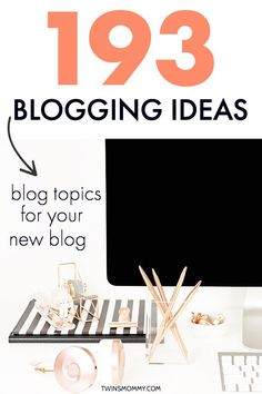 Blogging ideas for b
