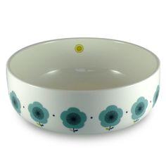 Saladier Mr & Mrs Clynk en porcelaine - Fleurs bleues