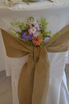 Froyle Park Wedding Fair - 20th July 2014; chair covers and hessian tie by Sitting Pretty Chair Covers http://www.sittingprettychaircovers.biz/ - flowers by Eden Blooms