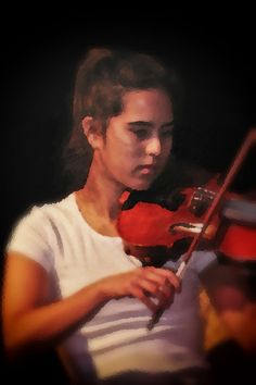 Young Violinist in Concert  Shot live - Post production PS6