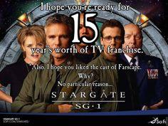 """""""Also, I hope you liked the cast of Farscape. Why? No particular reason."""" hahahahahahahahahaha @Sarah Chintomby Cameron @Jocelyn Hanna"""