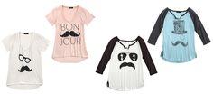 Mustache fashion screen tees from Shopko
