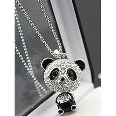 Purchase Women Fashion Lovely Rhinestone Panda Pendant Beaded Long Sweater Chain Necklace from Aofa on OpenSky. Share and compare all Jewelry. Long Pendant Necklace, Beaded Choker Necklace, Engraved Necklace, Blue Necklace, Pendant Jewelry, Necklaces, Gypsy Jewelry, Chain Jewelry, Jewellery