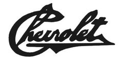Chevrolet script nameplate, designed for Chevrolet co-founder Louis Chevrolet's original 1911-1914 Type C, also known as the Classic Six.