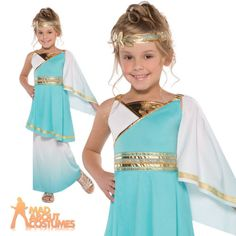 #Child venus goddess costume teens roman toga greek fancy #dress kids ages #10-14, View more on the LINK: http://www.zeppy.io/product/gb/2/181479027017/