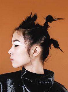 Publication: i-D Magazine Fall 2014 Model: Xiao Wen Ju Photographer: Angelo Pennetta Fashion Editor: Poppy Kain Hair: Luke Hersheson Make-up: Lucia Pica