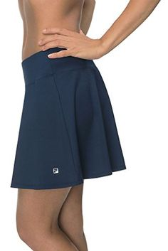 Women's Athletic Skirts - Fila Womens Long Flirty Comfort Waistband Skorts -- For more information, visit image link. (This is an Amazon affiliate link)