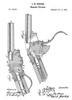 Spencer patent drawing for cartridge guide (485×670)