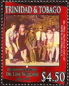 On 5 April 2011, the Post Office of Trinidad And Tobago issued six stamps and one miniature sheet to commemorate the birth centenary of the country's first Prime Minister after Independence. Probably the most popular celebrities to feature in the set are John Lennon and Ringo Starr, two members of the then popular British musical group, The Beatles,who were photographed when they visited Tobago in 1966. They appear on the $4.50 value.