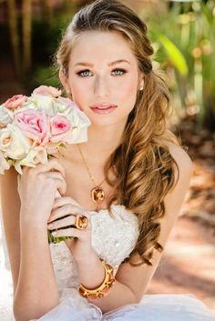 gorgeous bridal hair - side pony? mine won't be that long though.