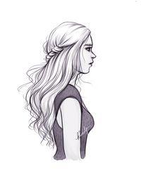 Girl illustration #Hair  / Illustrazione Ragazza #Capelli - Illust. by Kim Pertinence