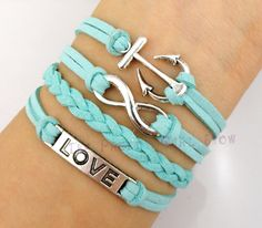 Anchor Infinity and Love Charm Bracelet in por ThePrettyGirlShow, $6.99