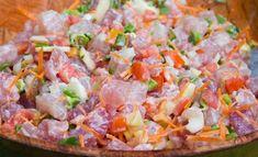 Salade Tahitienne au thermomix. Découvrez la recette Salade tahitienne de poisson cru au lait de coco, simple et facile à réaliser au thermomix.