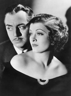 William Powell...Myrna Loy in The Thin Man.....